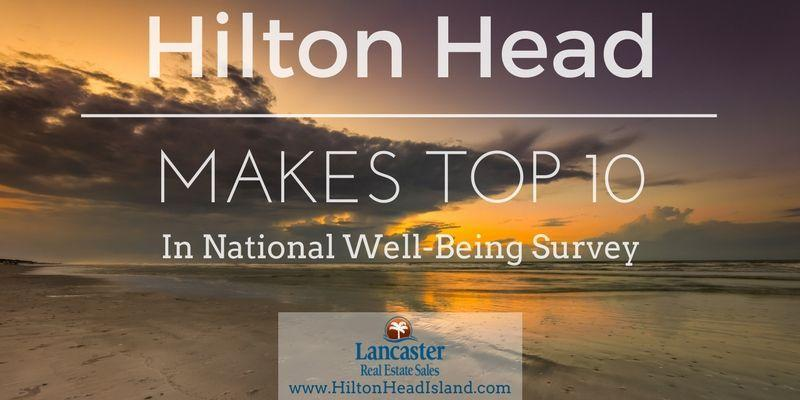 hilton head makes top ten in national well-being survey