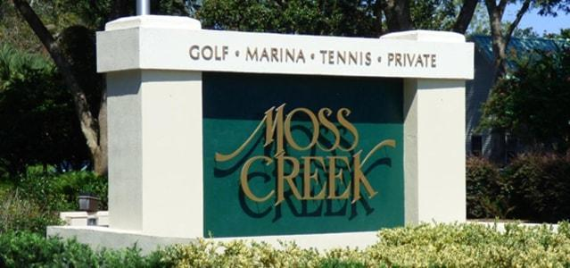 moss creek entry sign