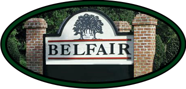 belfair south carolina, entry sign