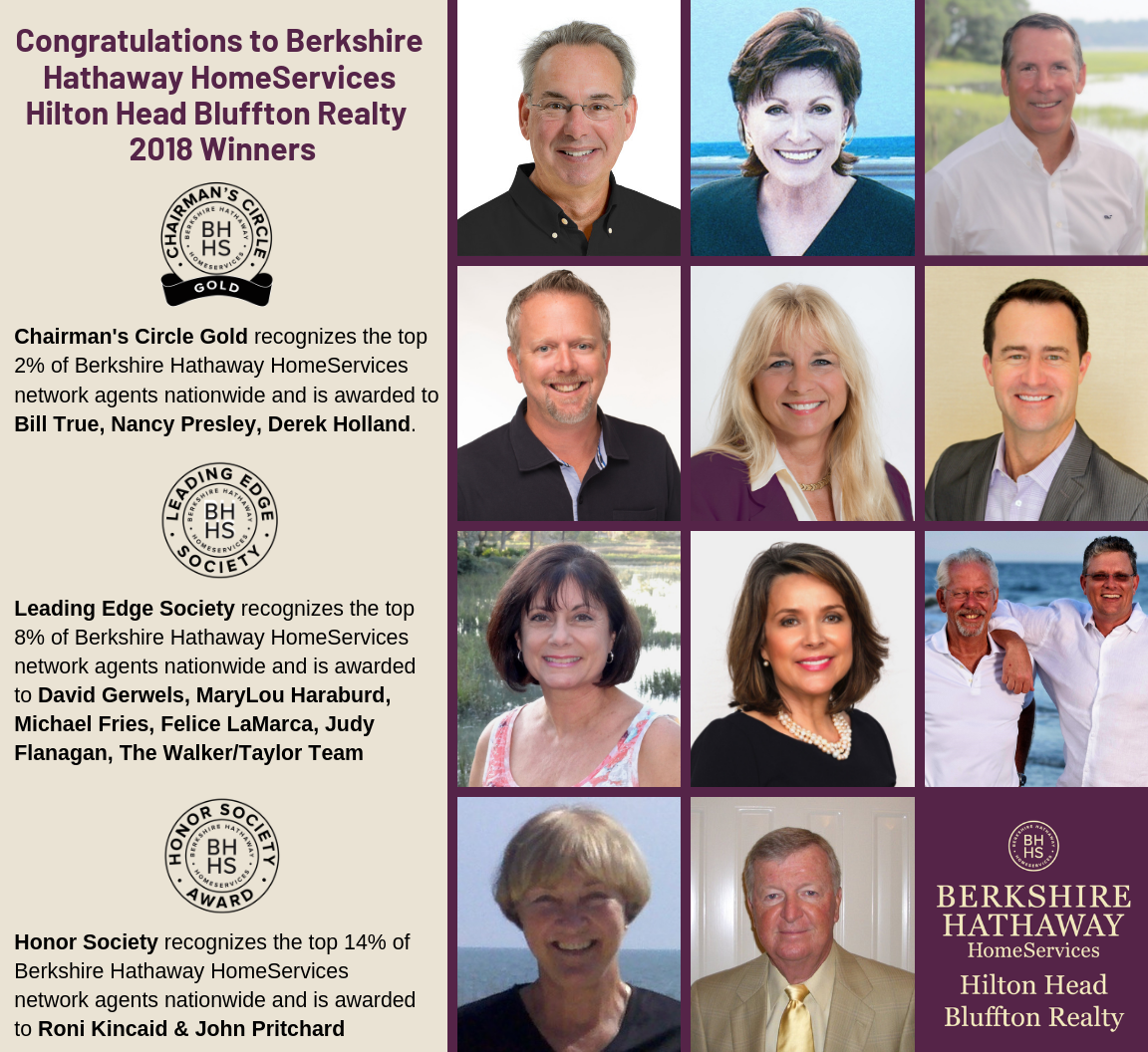 Berkshire Hathaway HomeServices Hilton Head Bluffton Realty Winners